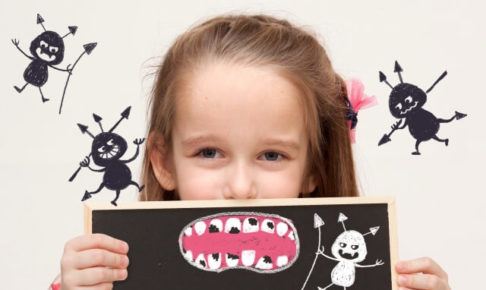 虫歯の少女の画像