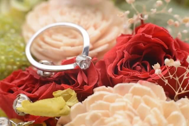 婚約指輪の画像