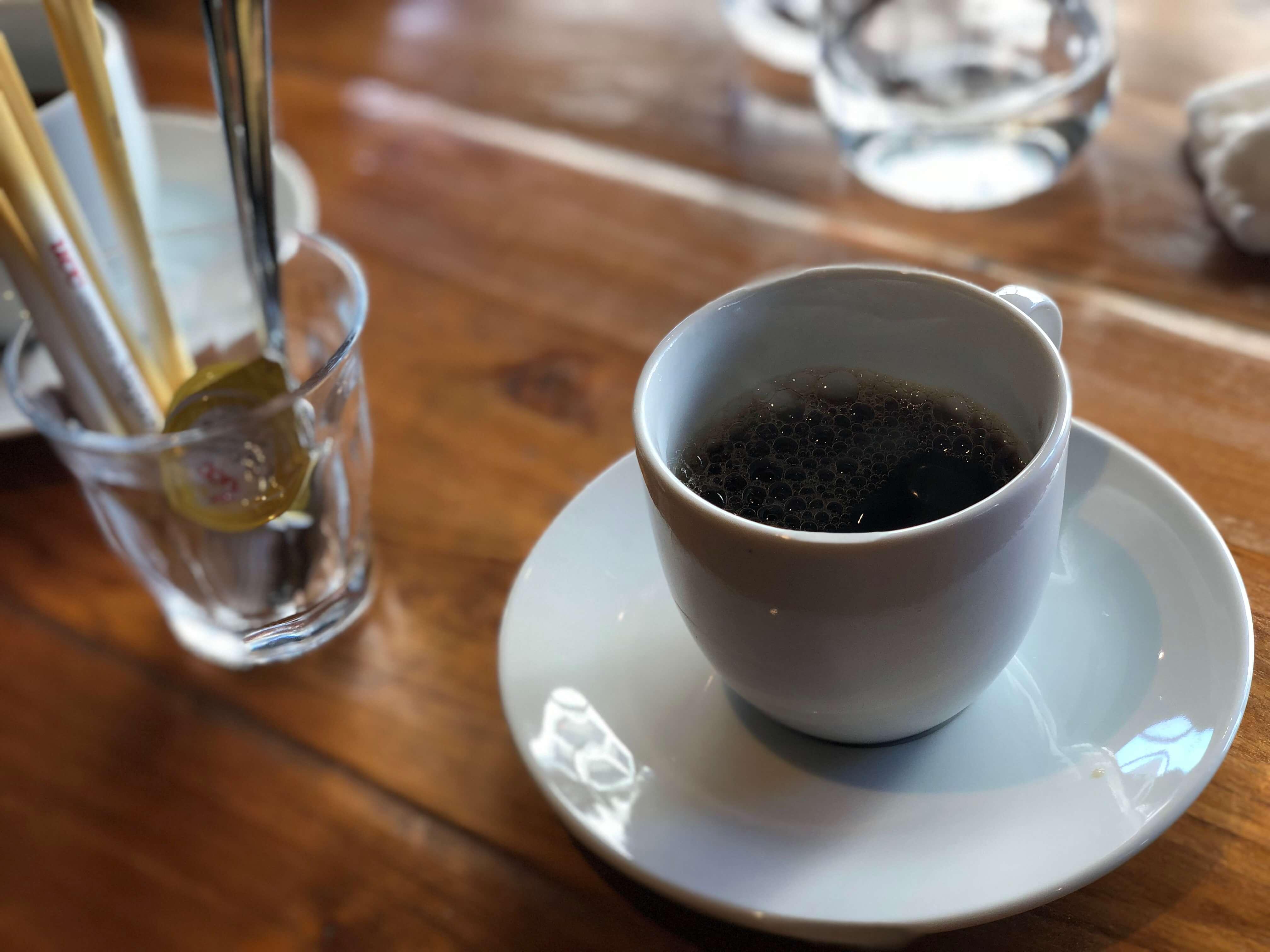 締めのコーヒー