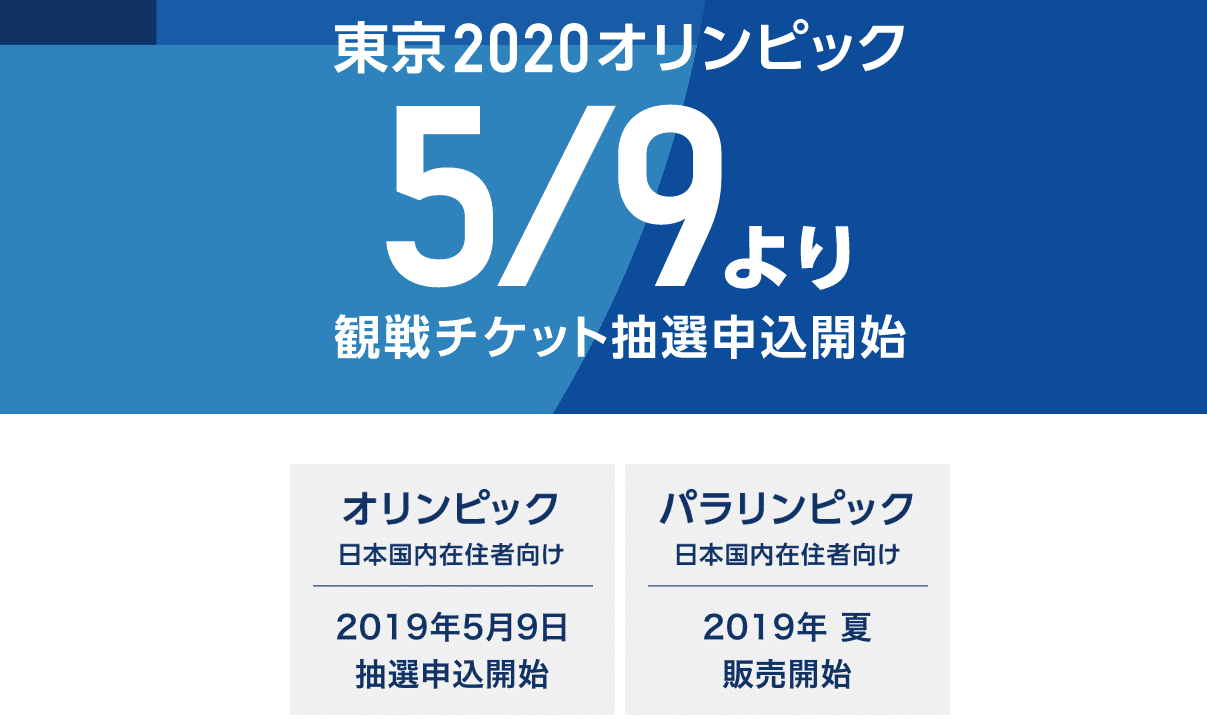 東京オリンピックの観戦チケット抽選申込が開始したのでID登録してみた!